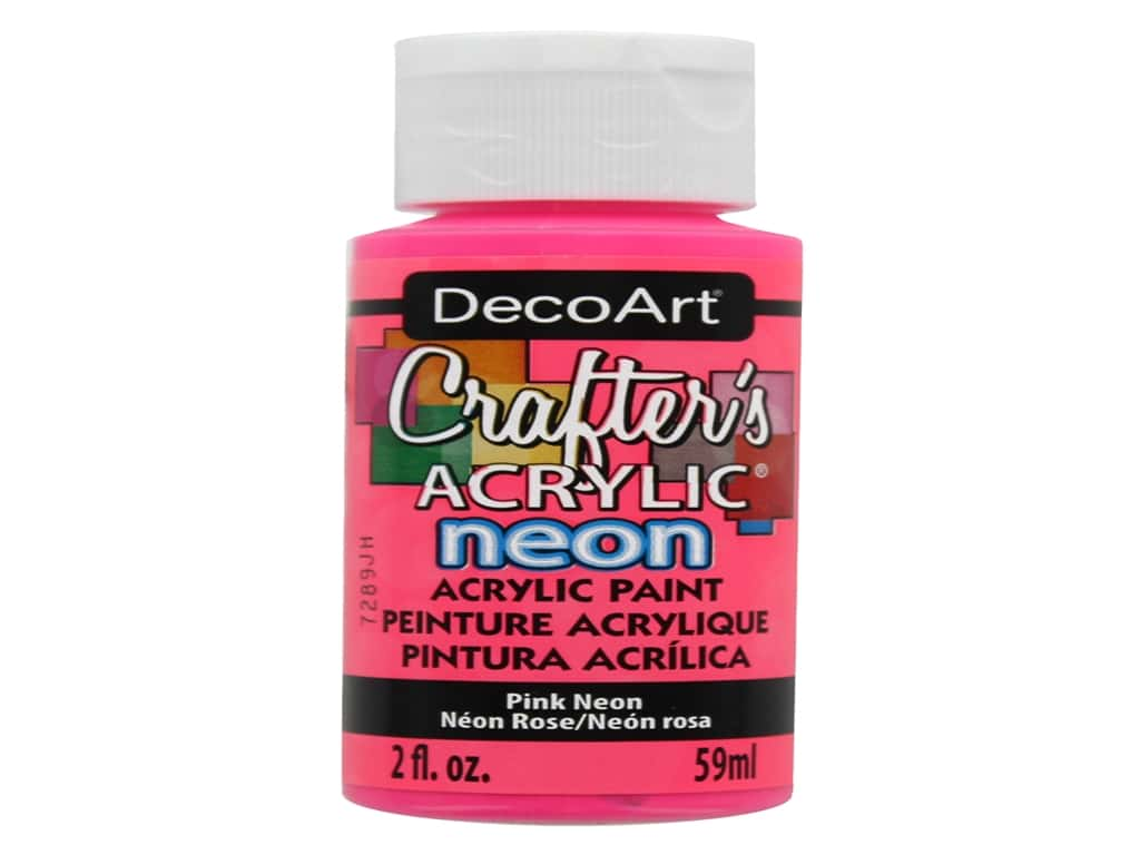 DecoArt Crafter's Acrylic Paint - #128 Neon Pink 2 oz.