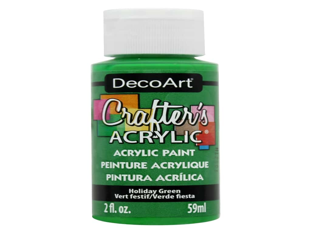 DecoArt Crafter's Acrylic Paint 2 oz. #104 Holiday Green