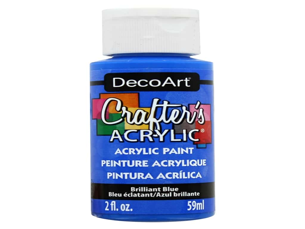 DecoArt Crafter's Acrylic Paint - #141 Brilliant Blue 2 oz.