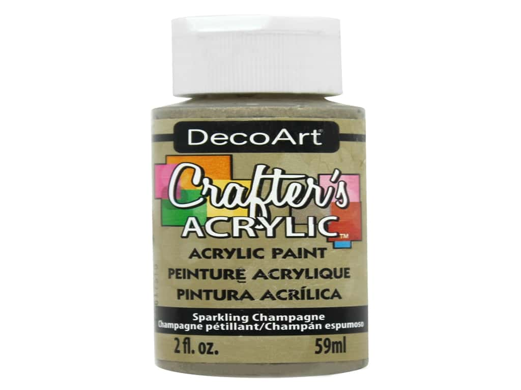 DecoArt Crafter's Acrylic Paint 2 oz. Sparkling Champagne