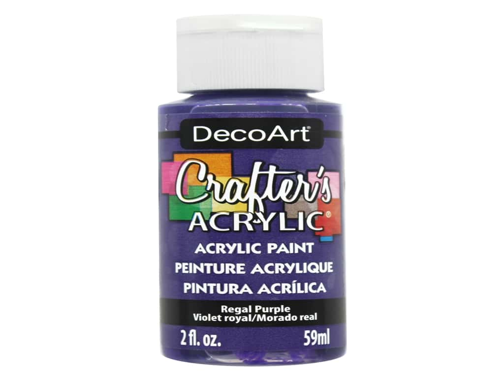 DecoArt Crafter's Acrylic Paint 2 oz. #73 Regal Purple