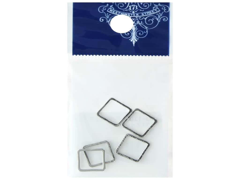 Resinate Ring Part Square Small Silver 5 pc