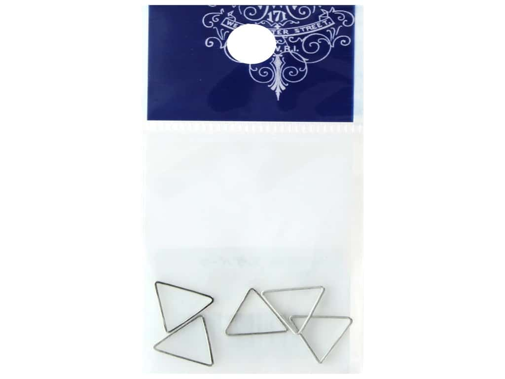 Resinate Ring Part Triangle Small Silver 5pc