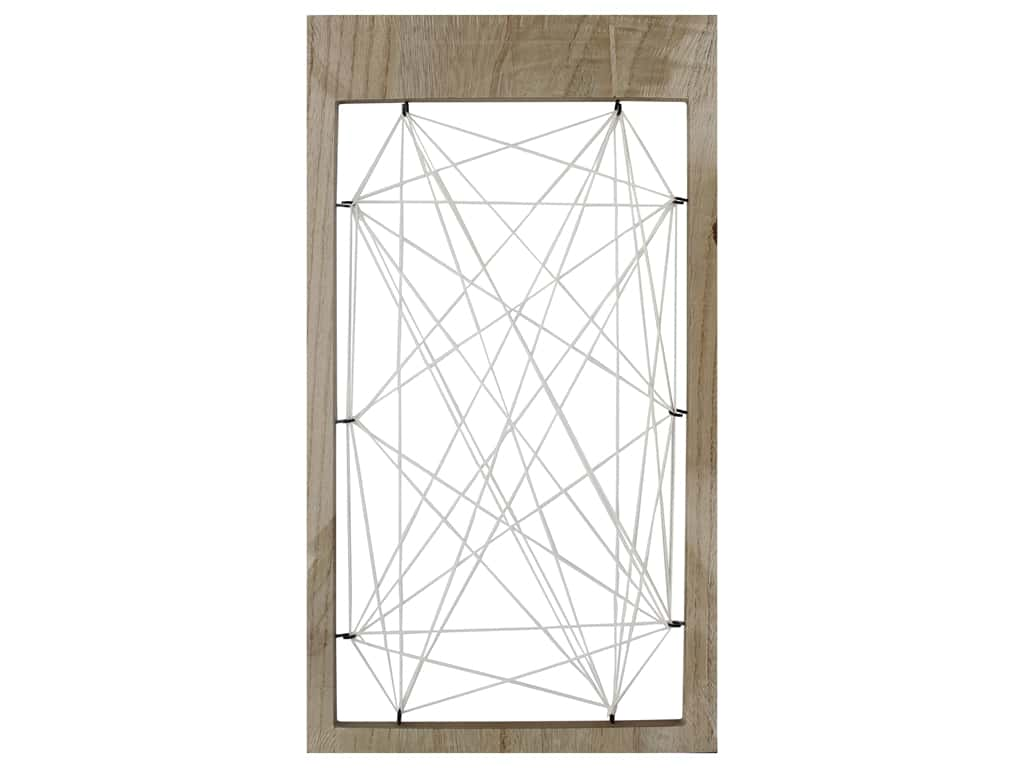 Sierra Pacific Crafts Wood Frame With String Natural/Cream
