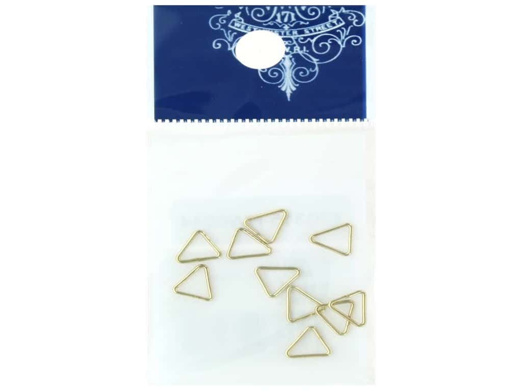 Resinate Triangle Jump Ring 7 mm Gold 10 pc