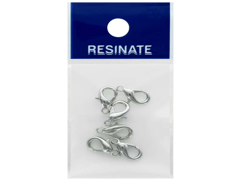 Resinate Lobster Clasp 12mm Silver 6pc