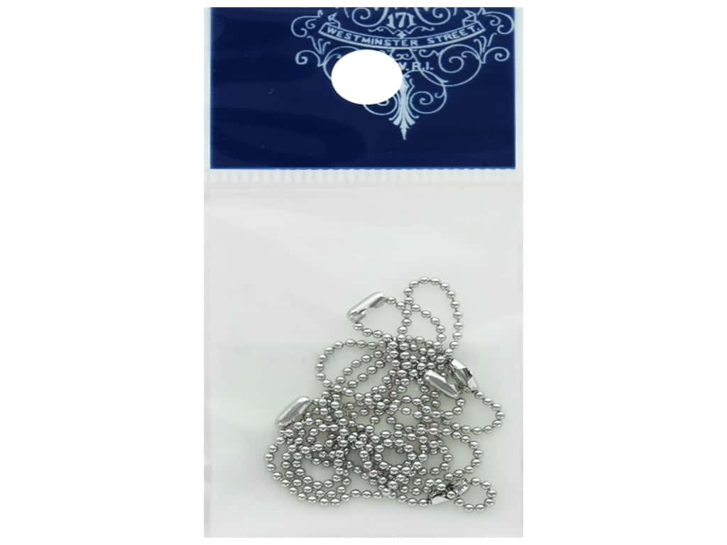 Resinate Ball Chain 1.2mm 10cm Silver 5pc