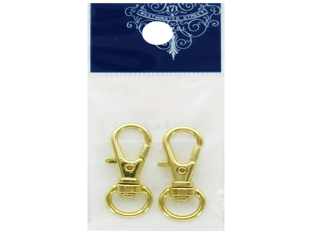 Resinate Lobster Clasp With Swivel Large Gold 2pc