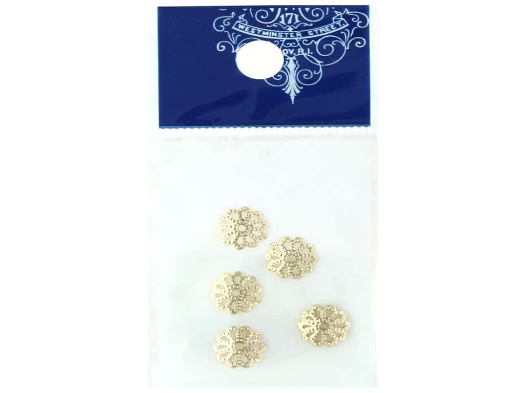 Resinate Bead Cap 8mm Gold 6pc