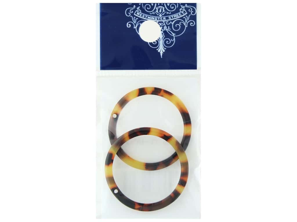 Resinate Plate Part Ring Tortoise Shell 2pc