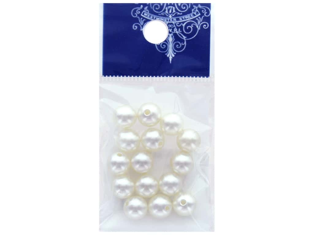 Resinate Bead Pearl 8 mm Hole 15 pc