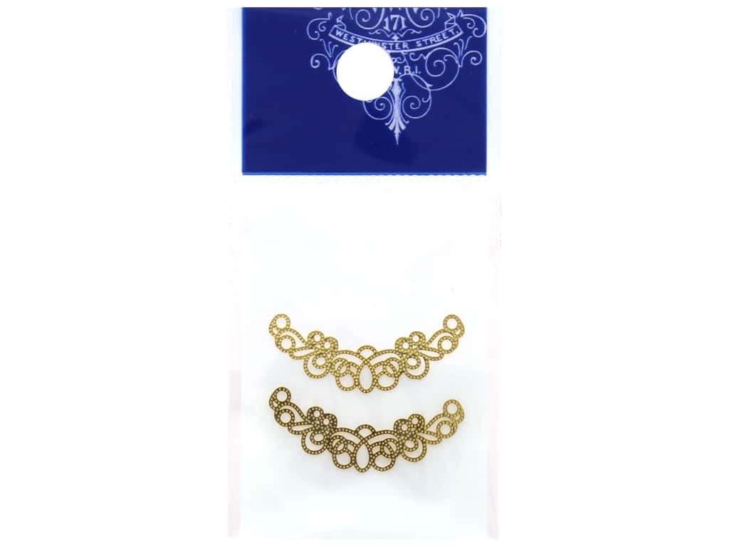 Resinate Charm Openwork Moon Medium Gold 2 pc