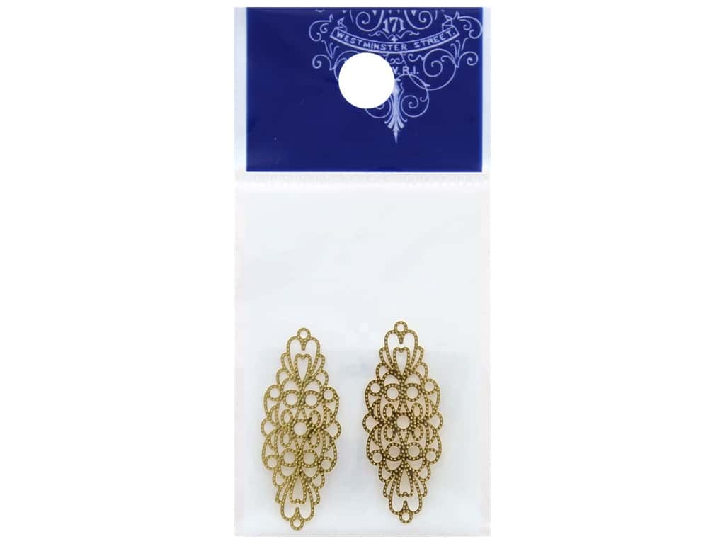 Resinate Charm Openwork Oval Large Gold 2 pc