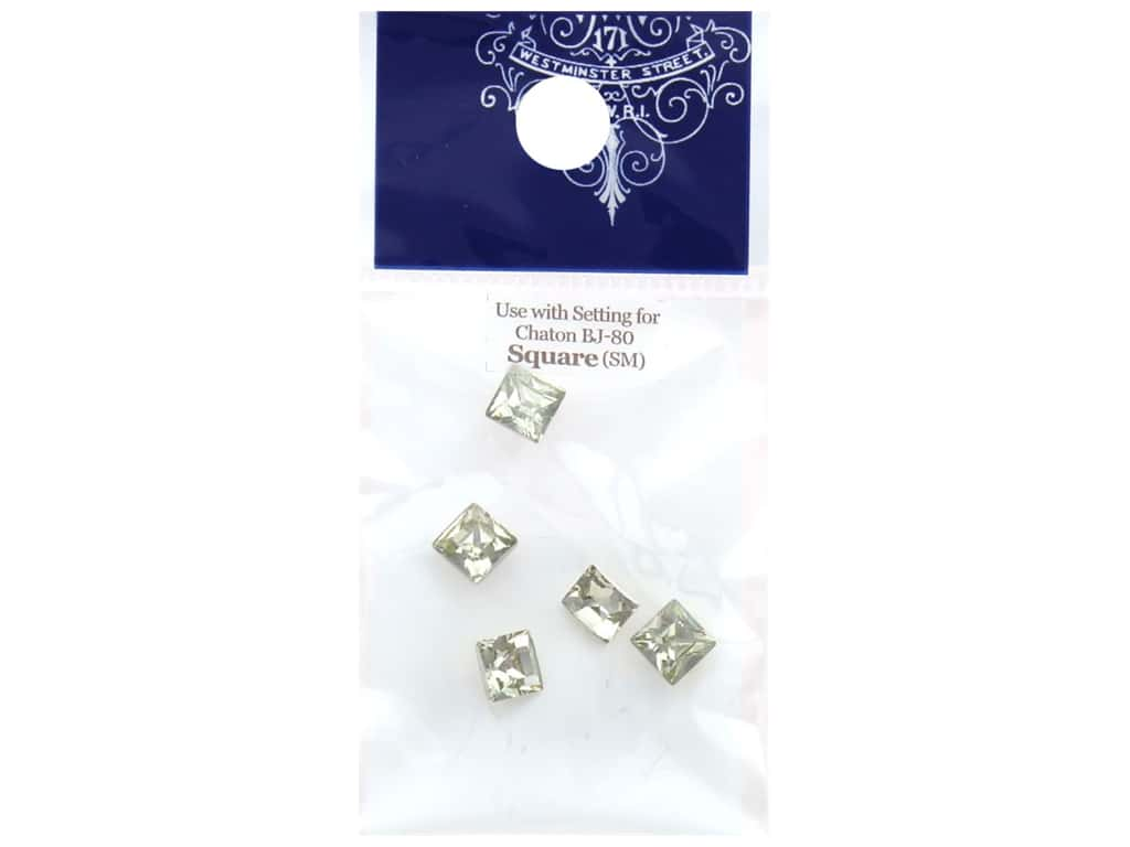 Resinate Chaton Square Small Crystal 5 pc