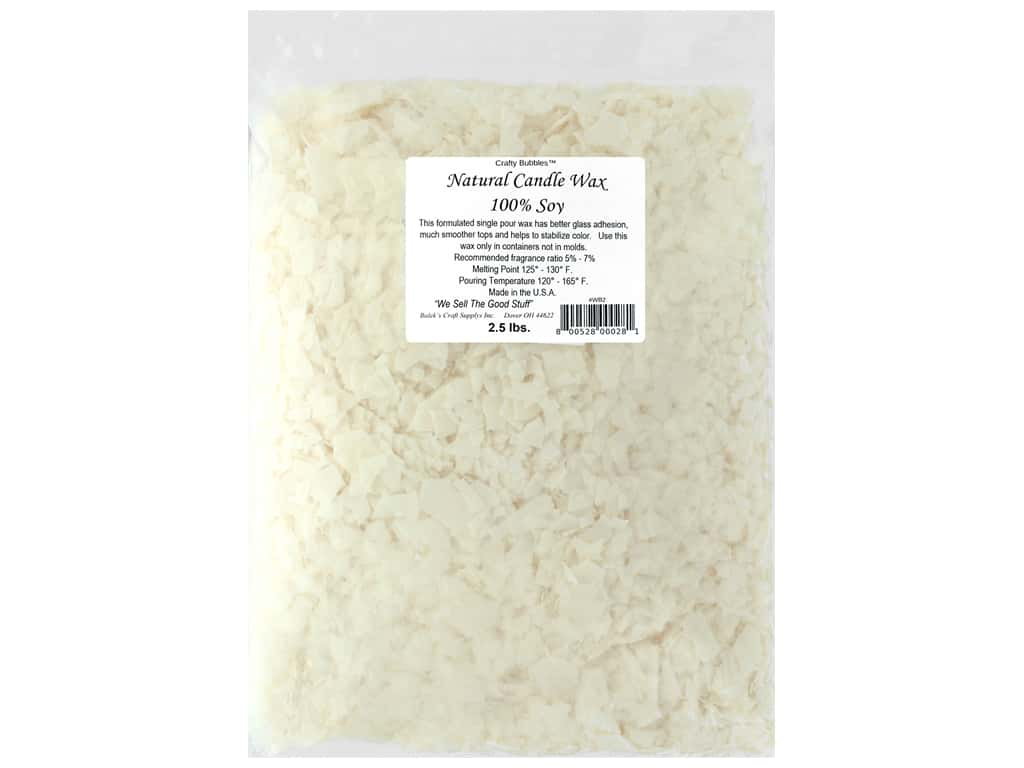 Crafty Bubbles Natural Soy Candle Wax 2.5 lb