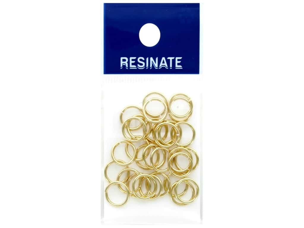 Resinate Jump Ring 1.0 x 9.0 mm Gold .17 oz