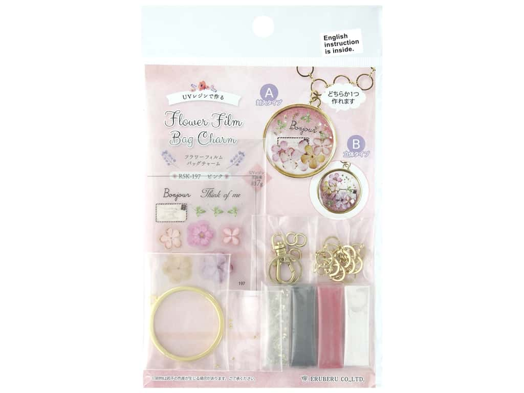 Resinate Kit Charm Film Bag Flower Pink
