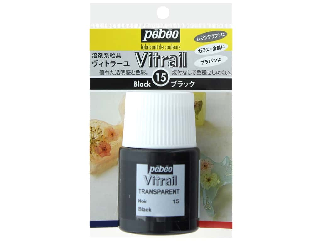 Resinate Vitrail 20ml Transparent Black