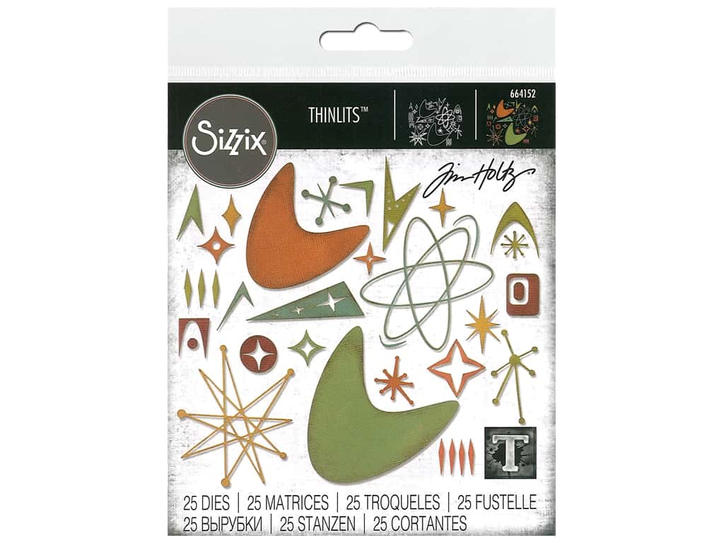 Sizzix Tim Holtz Thinlits Die Set 25 pc. Atomic Elements