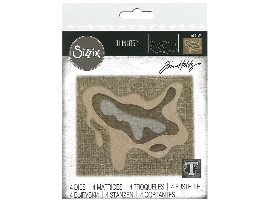 Sizzix Tim Holtz Thinlits Die Set 4 pc. Splat