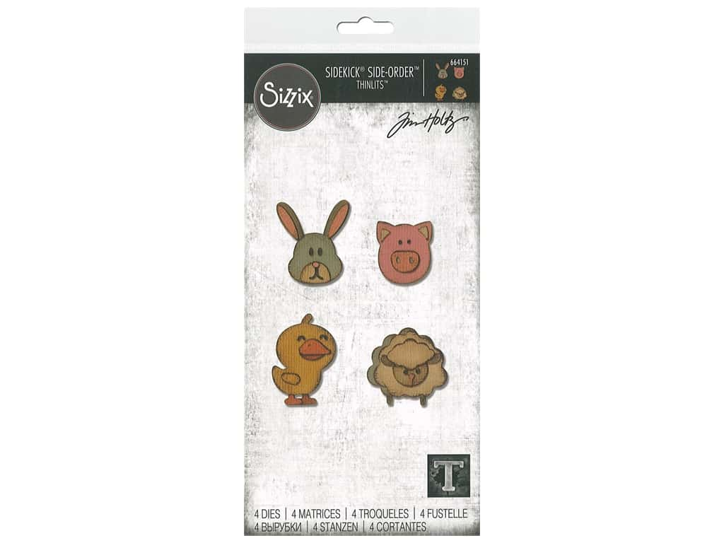 Sizzix Tim Holtz Sidekick Side-Order Thinlits Die Set Critters