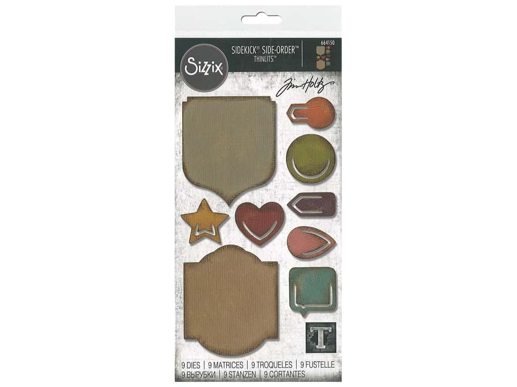 Sizzix Tim Holtz Sidekick Side-Order Thinlits Die Set Noted