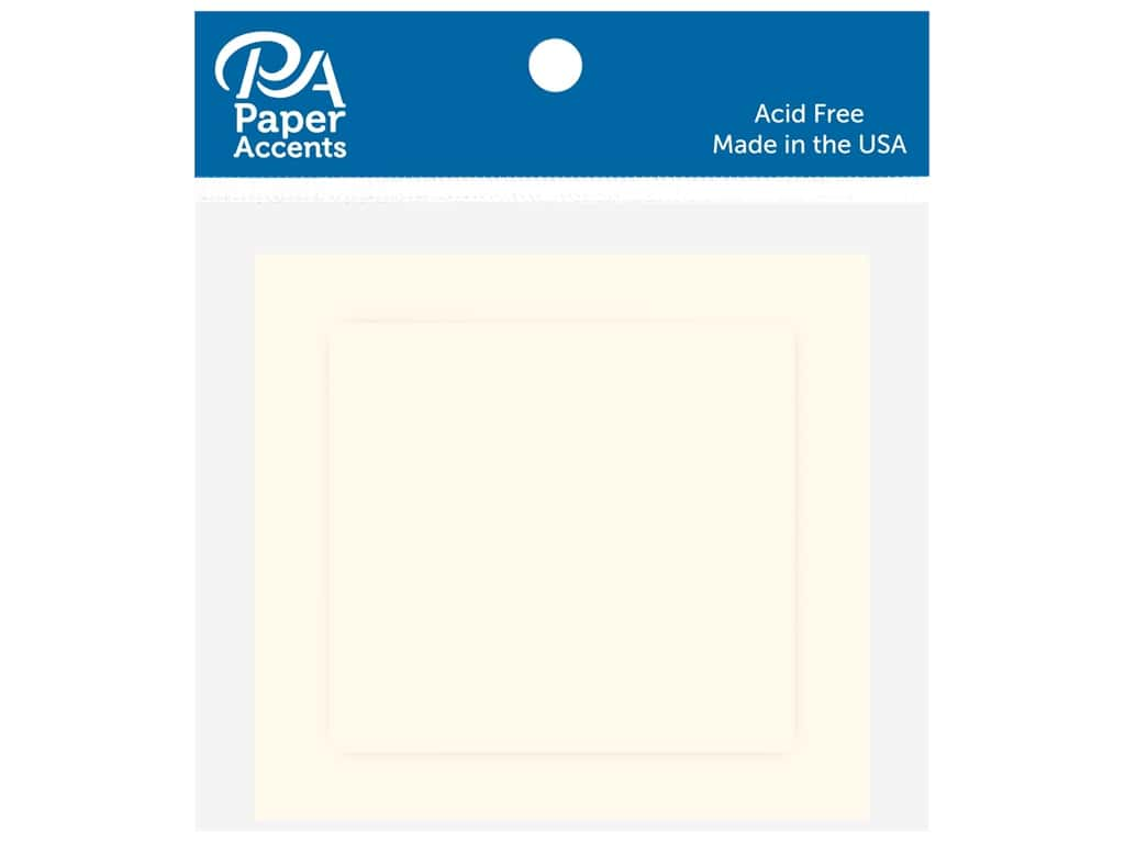 Paper Accents Blank Card & Envelopes - 2 1/2 x 2 1/2 in. - Cream 10 pc.