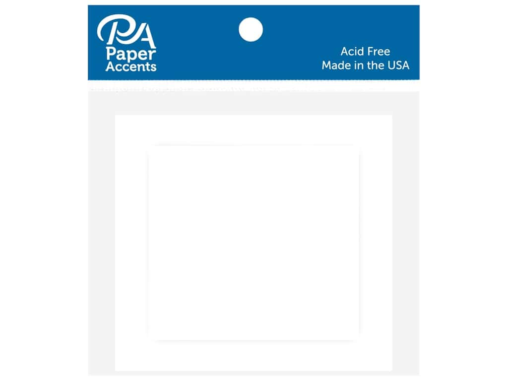 Paper Accents 2 1/2 x 2 1/2 in. Blank Card & Envelopes 10 pc. White