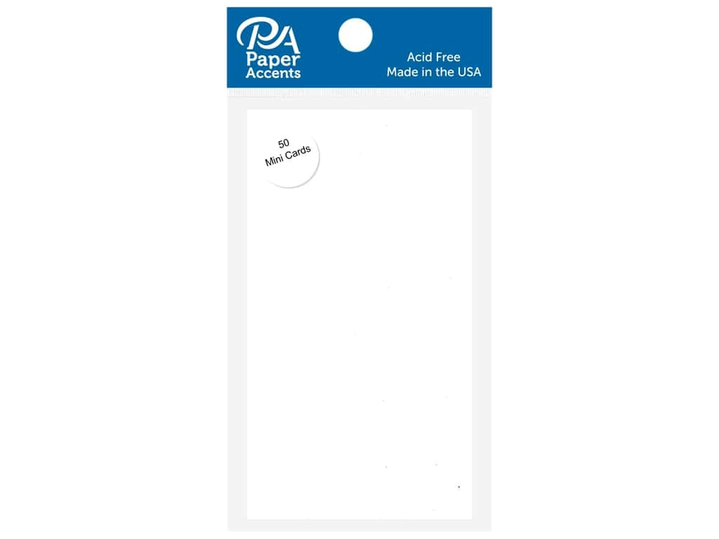Paper Accents 2 1/2 x 5 in. Mini Cards 50 pc. White