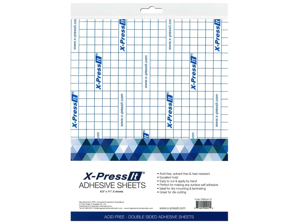 X-Press it Adhesive Sheet 8.5 in. x 11 in.  5 pc
