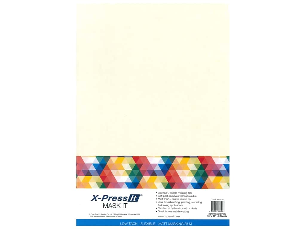 X-Press it Mask It Adhesive 15 in. x 10 in. Sheet 8 pc