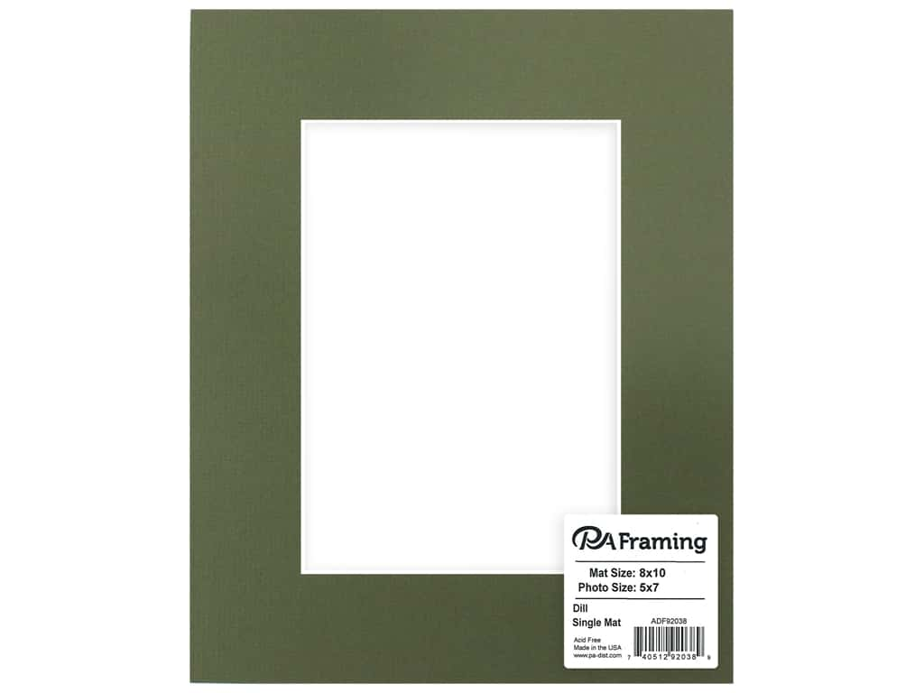 PA Framing Mat White Core 8 in. x 10 in. /5 in. x 7 in. Dill