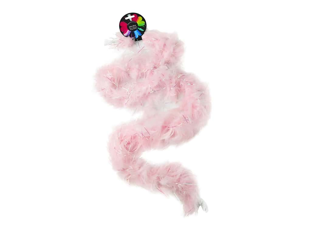 Midwest Design Boa Mini Feather 48 in. Light Pink 25gm