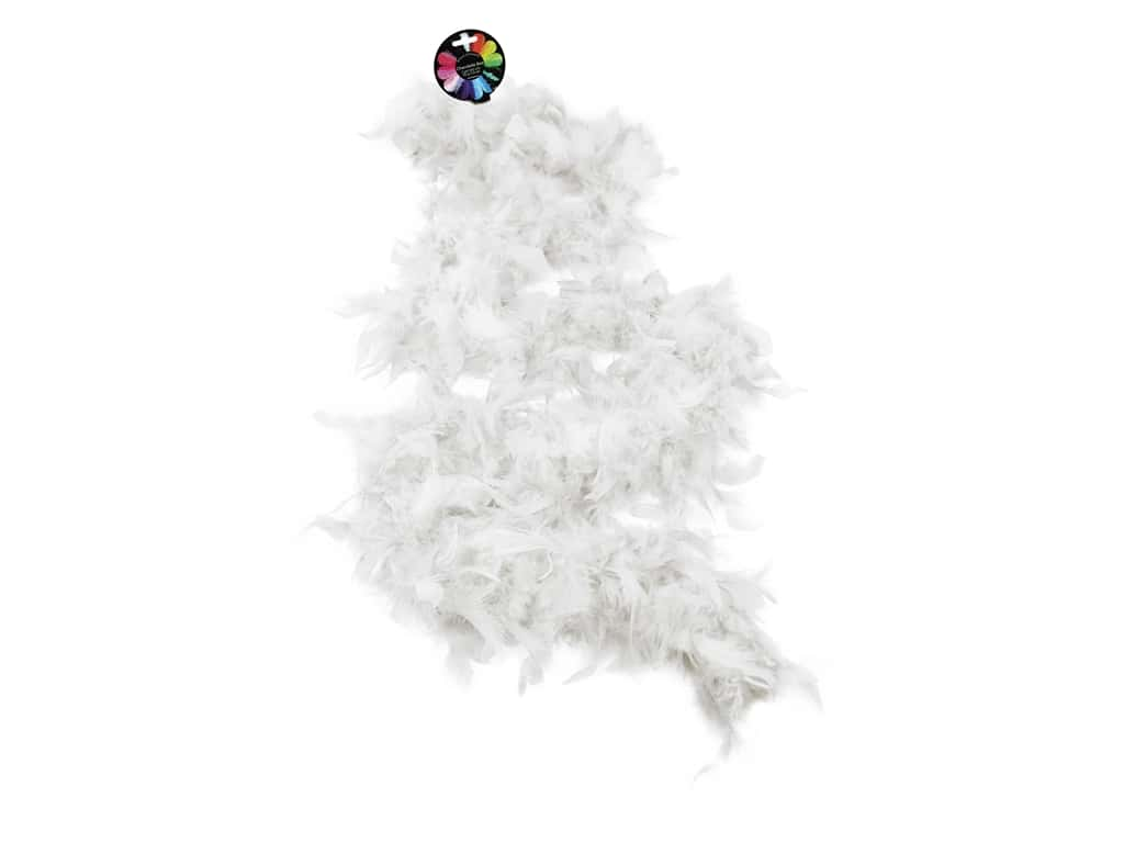 Midwest Design Boa Chandelle Feather 2 yd White 45 gm