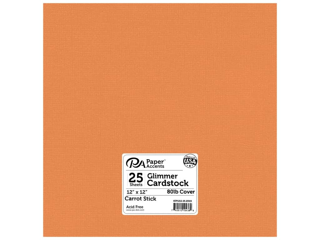 Paper Accents Cardstock 12 x 12 in. #23303 Glimmer Carrot Stick 25 pc.