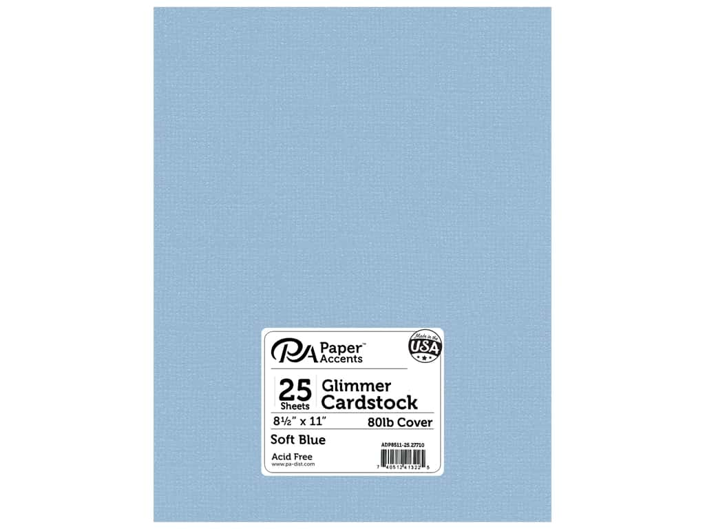 Paper Accents Cardstock 8 1/2 x 11 in. #27710 Glimmer Soft Blue 25 pc.