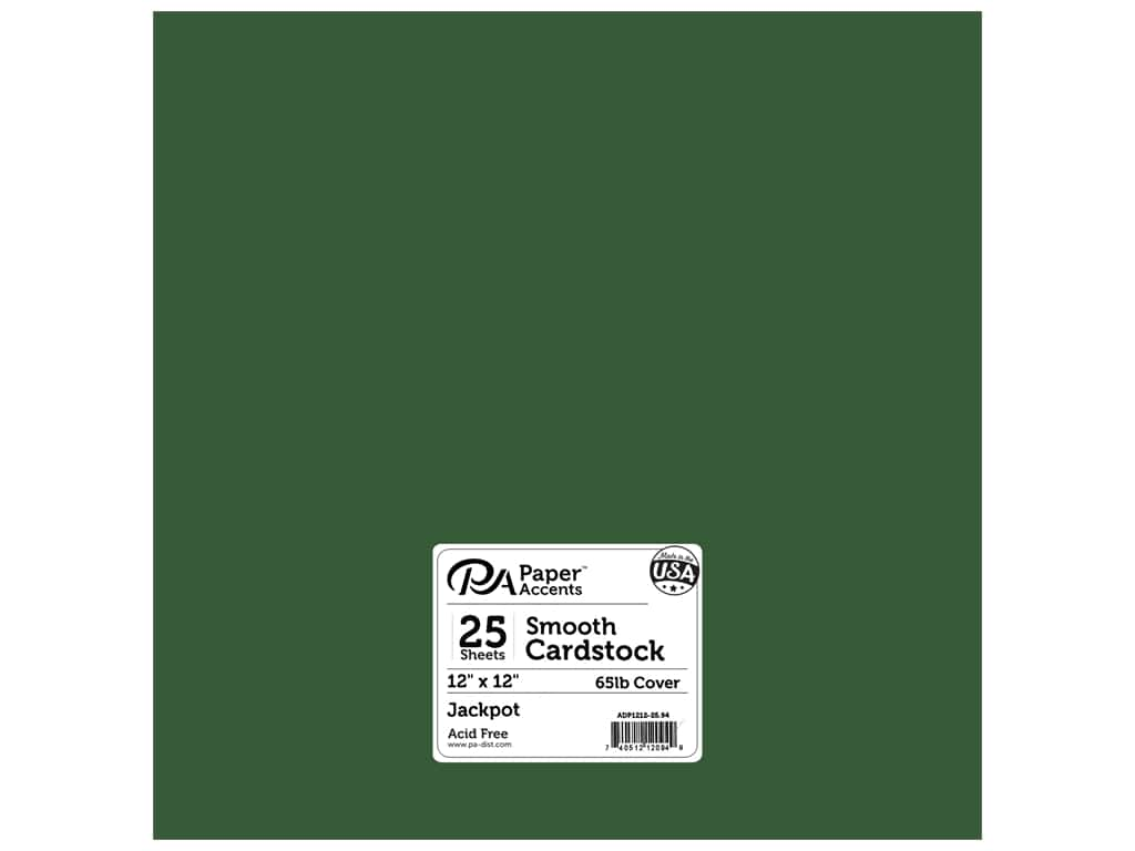 Paper Accents Cardstock 12 x 12 in. #94 Smooth Jackpot 25 pc.