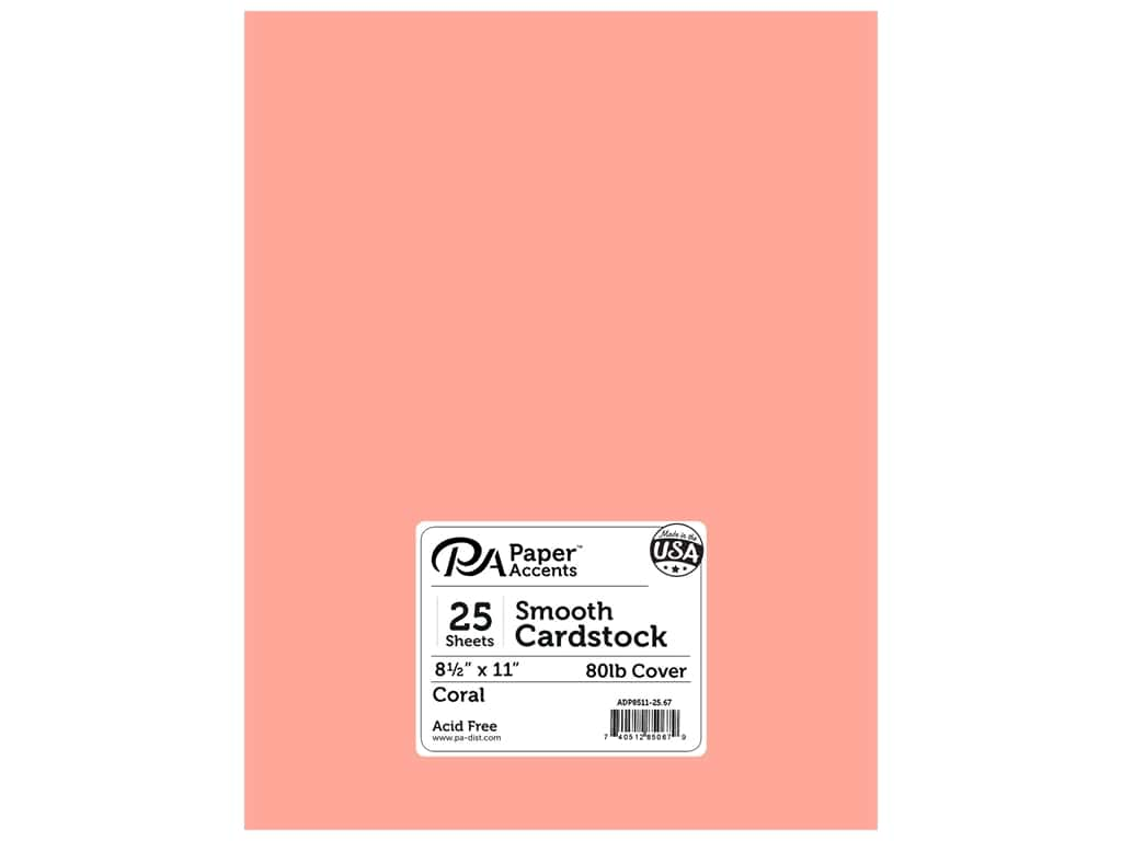 Paper Accents Cardstock 8 1/2 x 11 in. #67 Smooth Coral 25 pc.