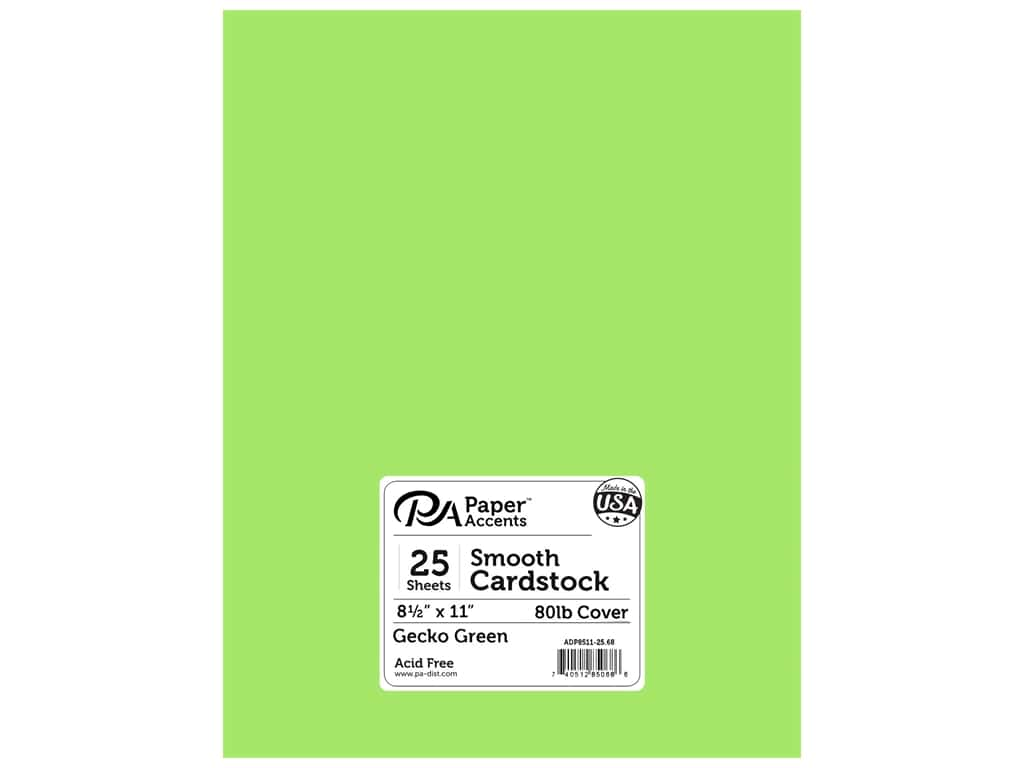 Paper Accents Cardstock 8 1/2 x 11 in. #68 Smooth Gecko Green 25 pc.
