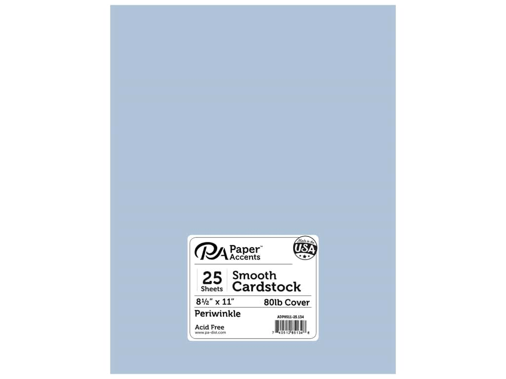 Paper Accents Cardstock 8 1/2 x 11 in. #134 Smooth Periwinkle 25 pc.