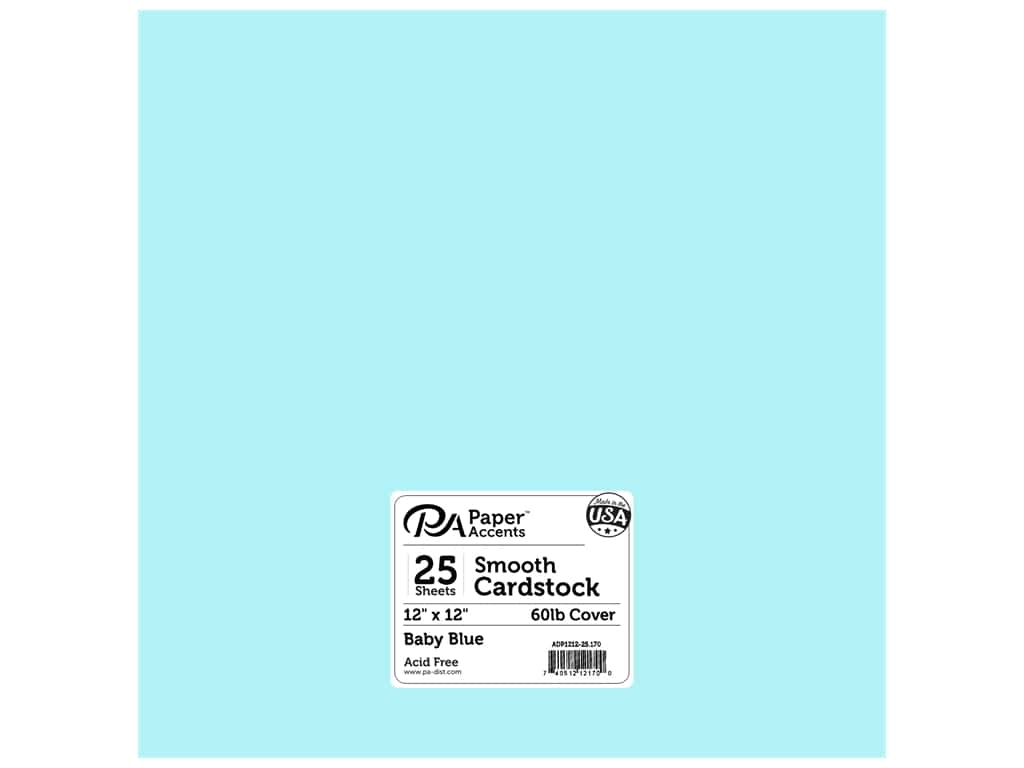 Paper Accents Cardstock 12 x 12 in. #170 Smooth Baby Blue 25 pc.