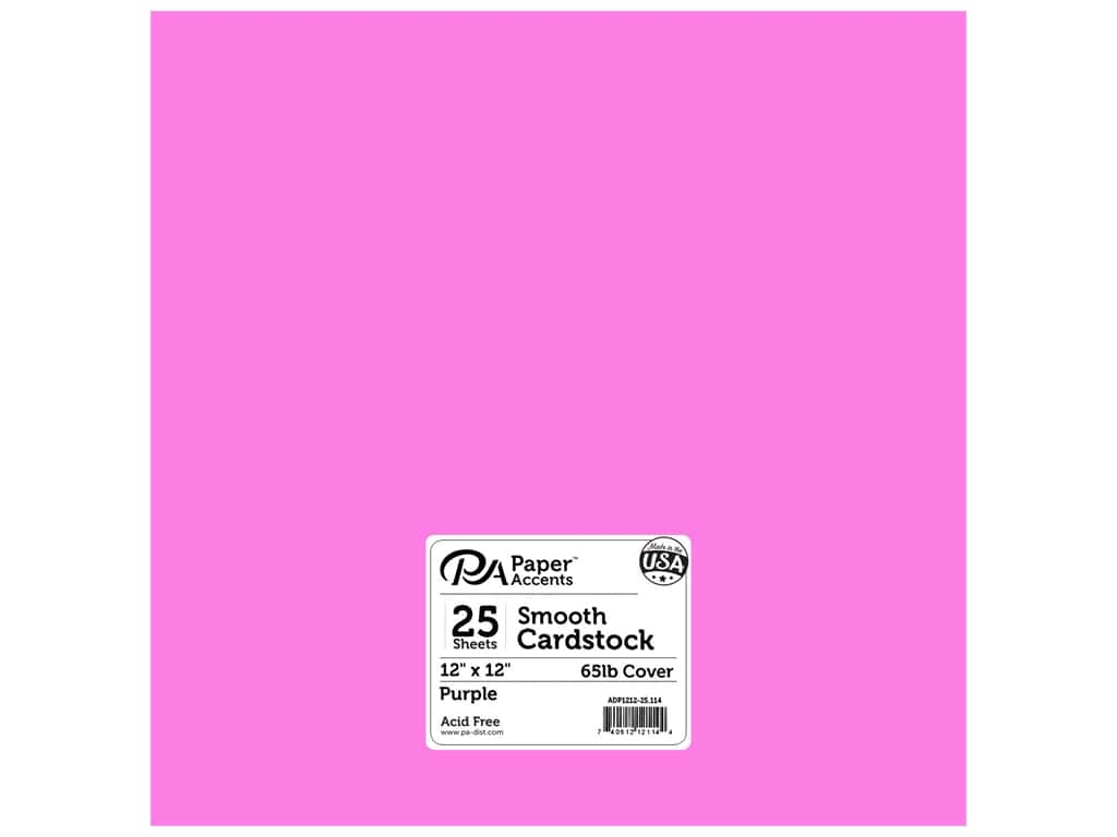 Paper Accents Cardstock 12 x 12 in. #114 Smooth Purple 25 pc.
