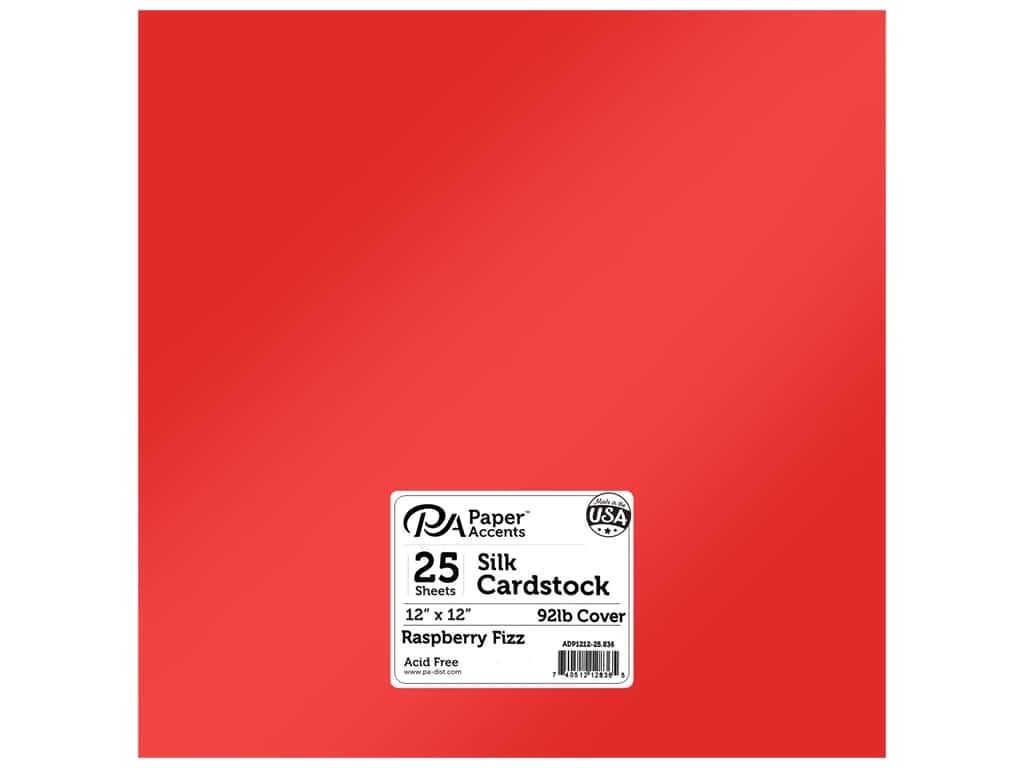 Paper Accents Cardstock 12 x 12 in. #836 Silk Raspberry Fizz (25 sheets)
