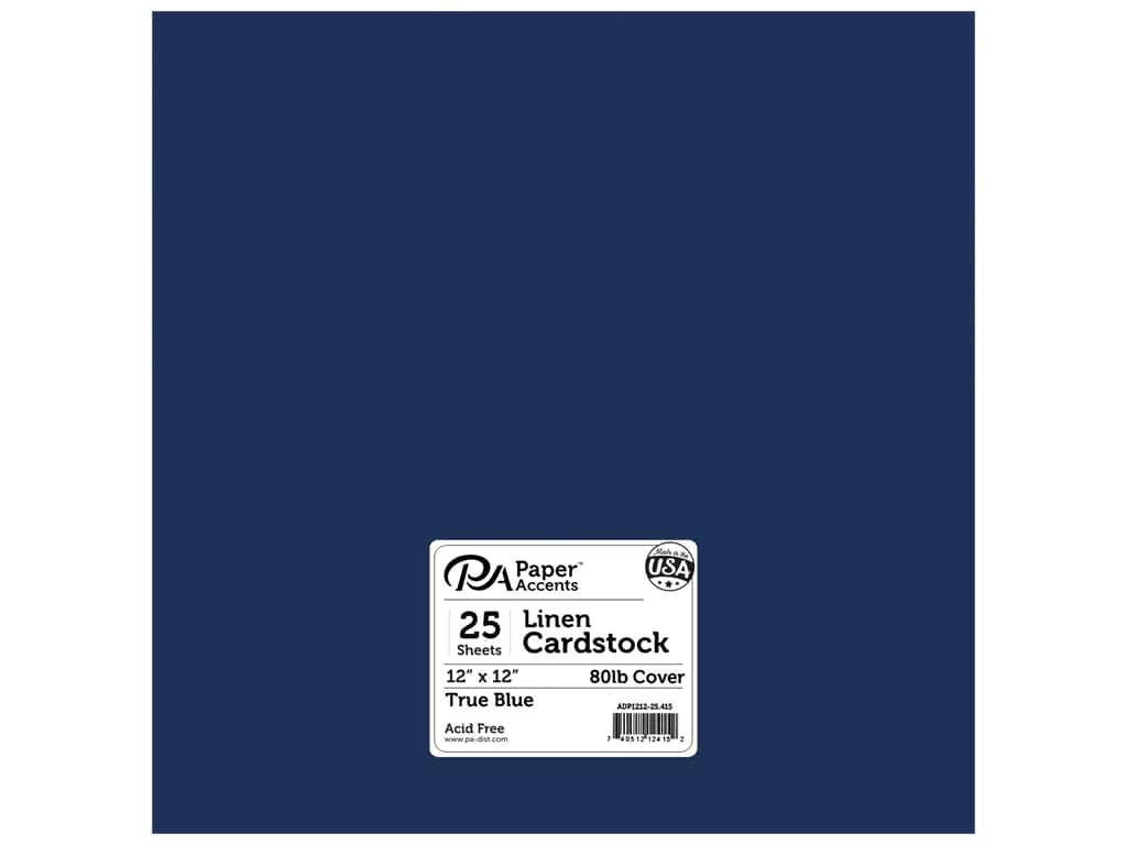 Paper Accents Cardstock 12 x 12 in. #415 Linen True Blue 25 pc.