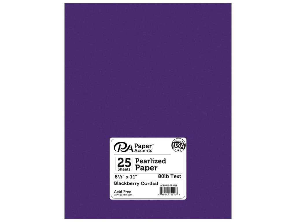 Paper Accents Pearlized Paper 8 1/2 x 11 in. #8811 Blackberry Cordial 25 pc.