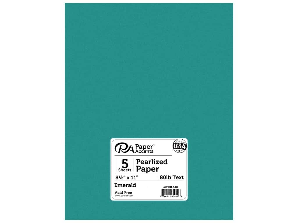 Paper Accents Pearlized Paper 8 1/2 x 11 in. #879 Emerald 5 pc.