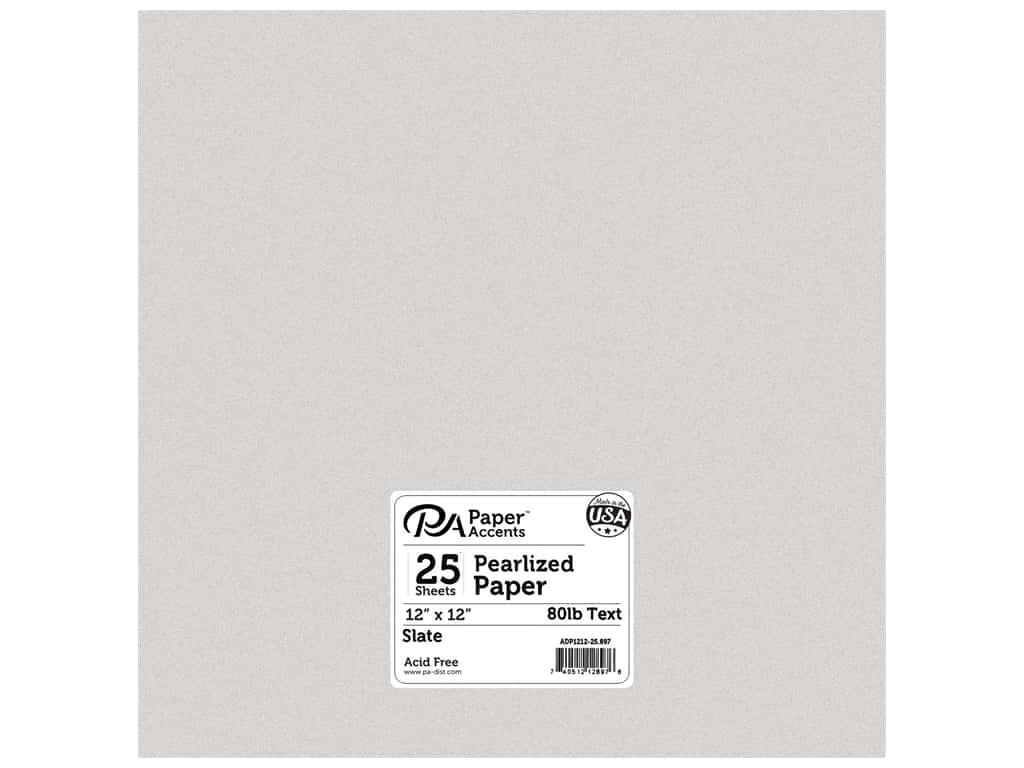 Paper Accents Pearlized Paper 12 x 12 in. #897 Slate 25 pc.