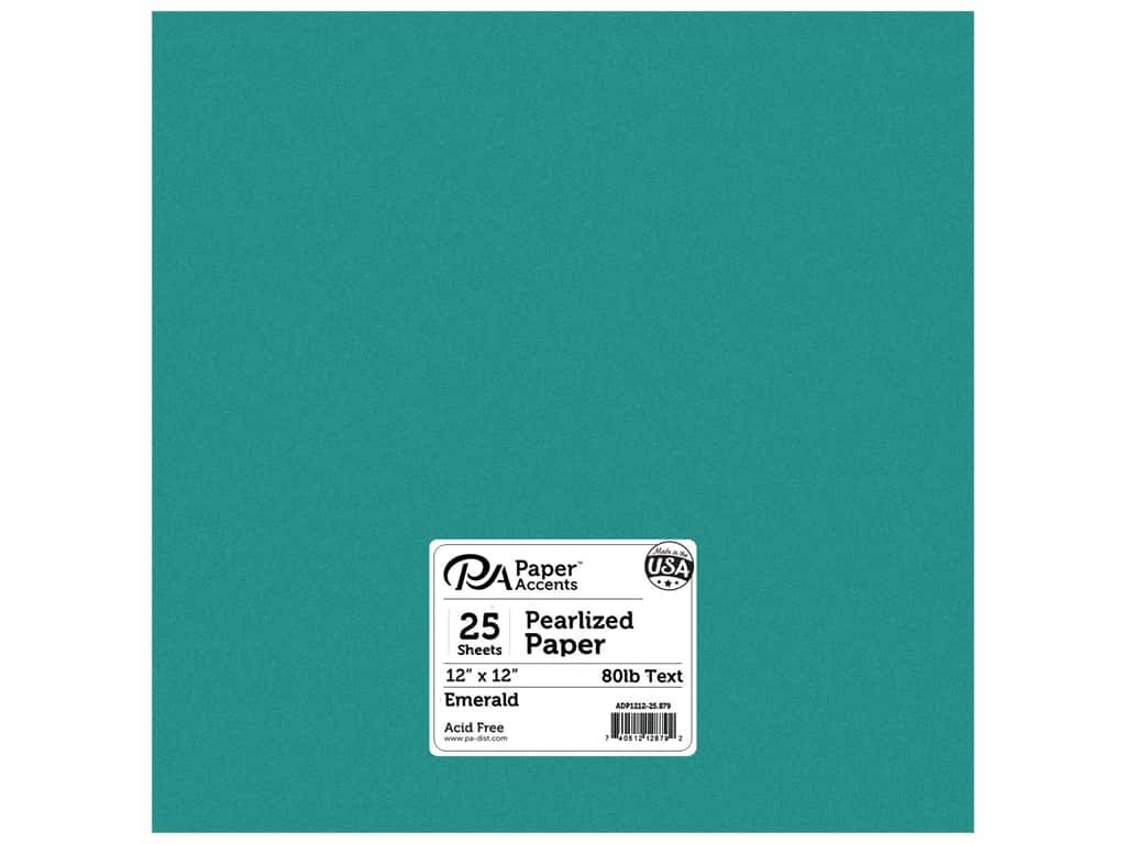 Paper Accents Pearlized Paper 12 x 12 in. #879 Emerald 25 pc.