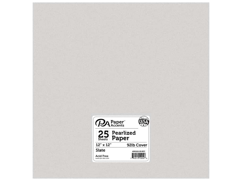 Paper Accents Cardstock 12 x 12 in. #897C Pearlized Slate 25 pc.