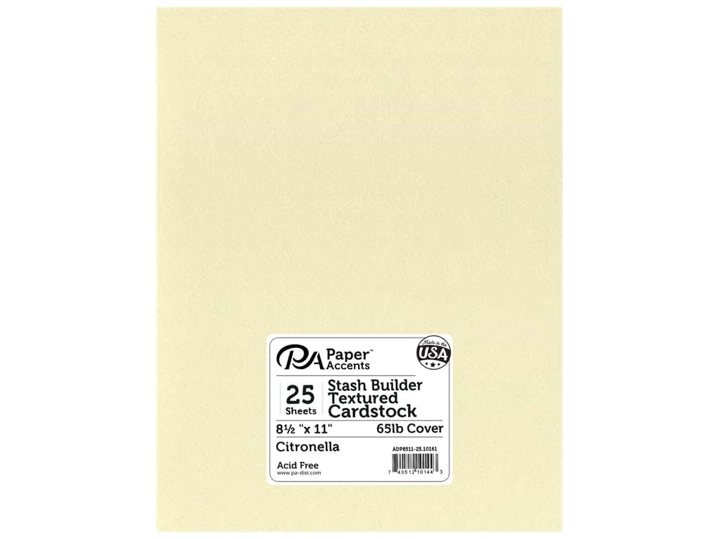 Paper Accents Cardstock 8 1/2 x 11 in. #10161 Stash Builder Textured Citronella 25 pc.